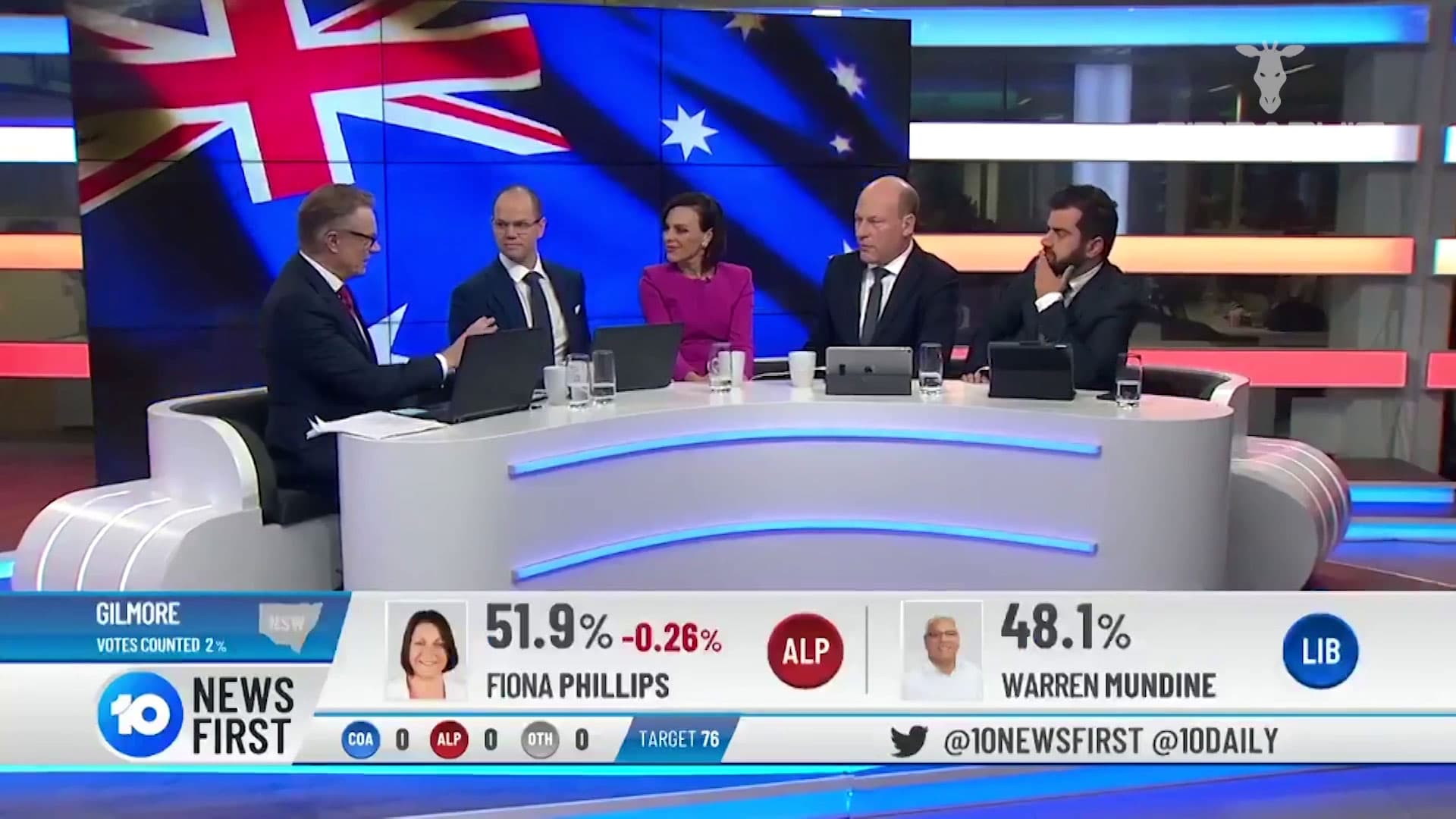 2019 Network 10 Federal Elections 03 Girraphic