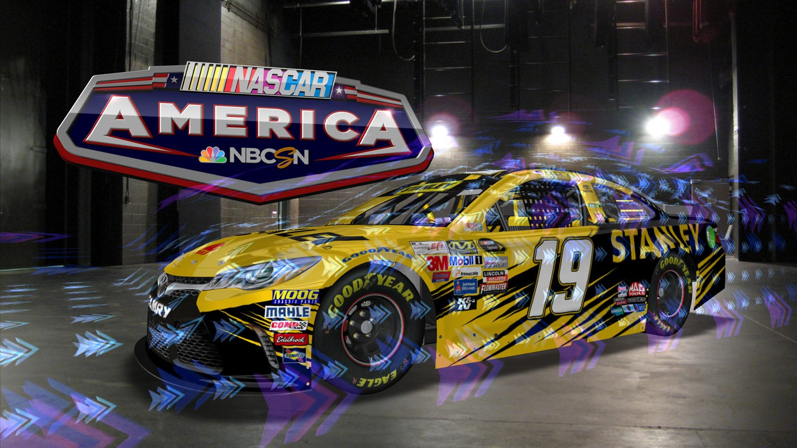 2016 NBC NASCAR Virtual Car Demo Girraphic
